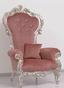 Trono Small, Trono en madera tallada, Nueva lujo de estilo barroco