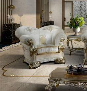 VANITY Sillón, Lujoso sillón personalizable con bordado