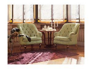 Viola, Sillón de estilo clásico, tamaño pequeño, confortable