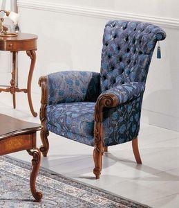Art. 3596, Cómodo sillón en estilo Luis XV.