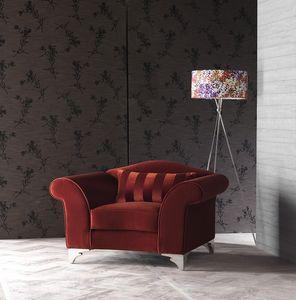 BLOOM sillón 8415A, Silla moderna de álamo, para mobiliario naval