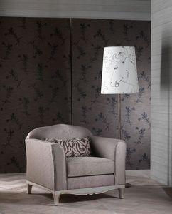 DORIAN sillón 8557A, Sillón elegante, excelente acabado, para la sala de estar clásica