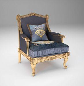 Margot sillón, Sillón clásico con acabado dorado