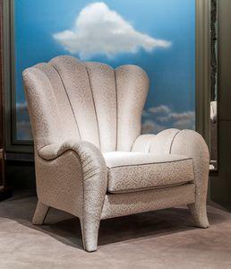 PO55 Metamorfosi sillón, Sillón tapizado, con tapicería de tela