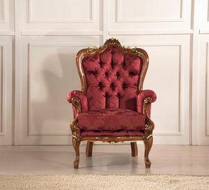 Rex sillón, Sillón con tallas decorativas