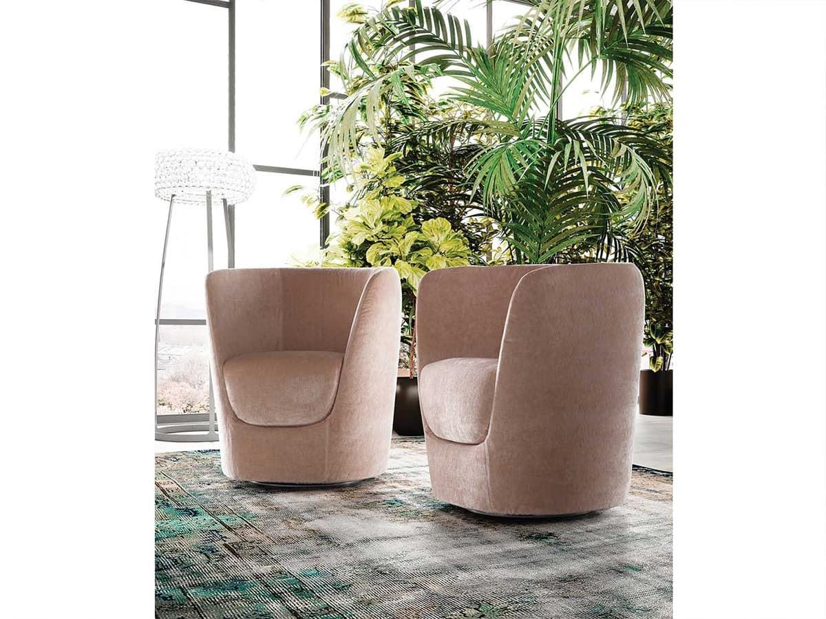 Oplà sillón, Diseño de la silla en forma de tulipán, base giratoria