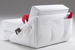Easy, Sillón convertible en cama, con ruedas, cubierta extraíble
