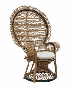 Alice 0243, Chaise longue en fibra natural apta para resguardado exterior