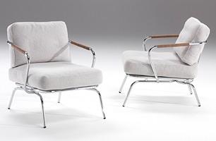 Alice, Cómodo sillón con estructura de acero expuesto