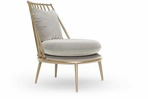 Aurora sillón con respaldo de hierro, Sillón con respaldo de rejilla