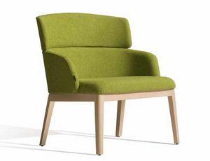 Concord 525UM, Sillón de madera con tapicería personalizable