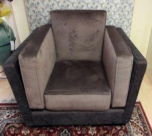Dietrech sillón, Sillón tapizado en dos colores.