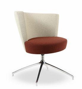 ELIPSE 1, Moderna de la butaca con asiento circular, base de 4 estrellas