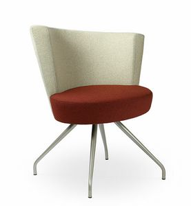 ELIPSE 1F, Sillón de salón con una gran asiento circular, para uso contract