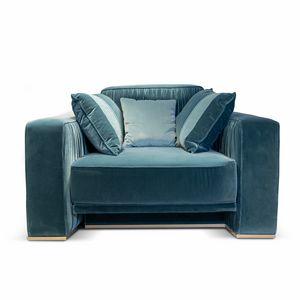 Herbin Art. 741-P, Elegante sillón con base de metal.