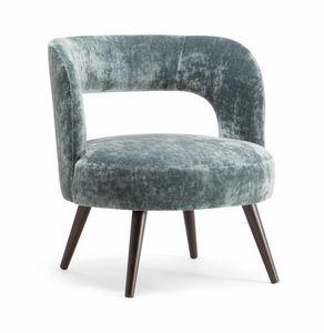 HOLLY LOUNGE CHAIR 065 P, Sillón con asiento grande