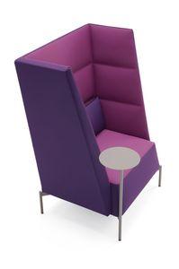 Kendo sillón de respaldo alto, Sillón para zonas de espera, con respaldo alto