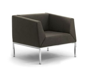 Kos sillón, Sillón y sofá con patas de metal y asiento tapizado