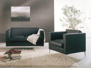 Matrix, Silla con un diseño moderno, con base metálica, salas de espera