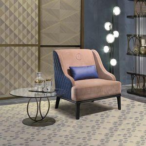 PO65 Square sillón, Sillón cómodo con respaldo de textura rombo.