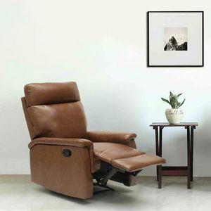 Sillón Relax Reclinable con Reposapiés de Cuero Polipiel AURORA - SR642PUM, Sillón reclinable relax