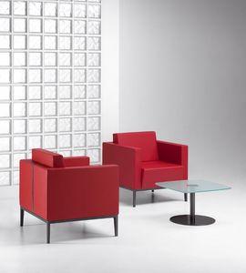 XILON 770, Sillón ideales acolchada moderno para zonas de relajación y salones