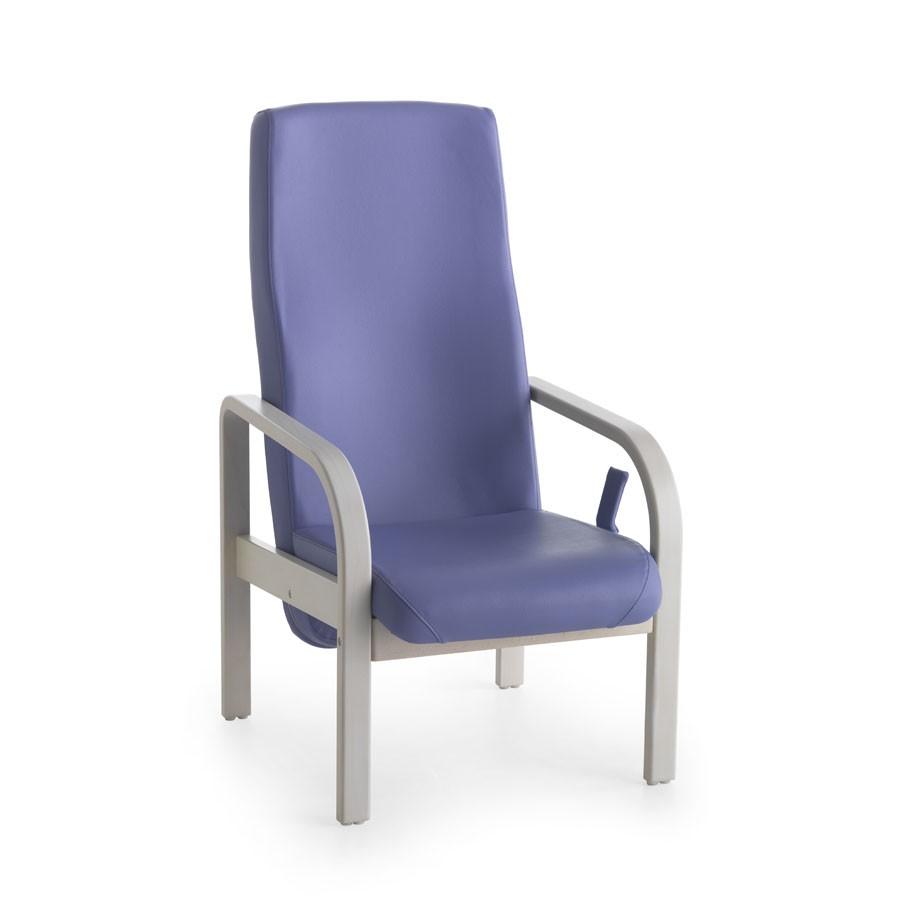 Marta 07 FIX, Silla para los ancianos, redondeado apoyabrazos, para centros de cuidados paliativos