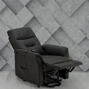 Sillón Elevador Reclinable eléctrico Relax tejido para personas mayores MARIE - SR680FGS, Sillón reclinable con mecanismo eléctrico.