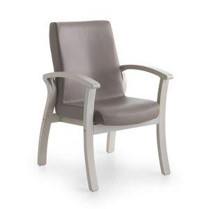 Silver Age 06 FIX, Lavable sillón, asiento ancho, para el hogar de ancianos