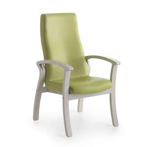 Silver Age 07 FIX, Cómoda silla con un respaldo alto, para las personas mayores