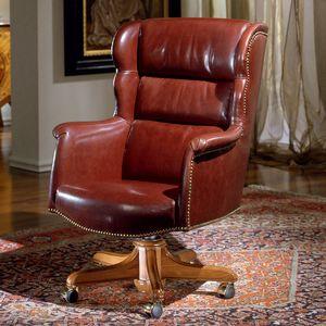 CARTER, Cómodo sillón de cuero para oficina