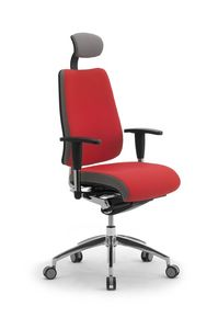 DD Dinamica high executive 53702, Silla de oficina con ruedas, con reposacabezas
