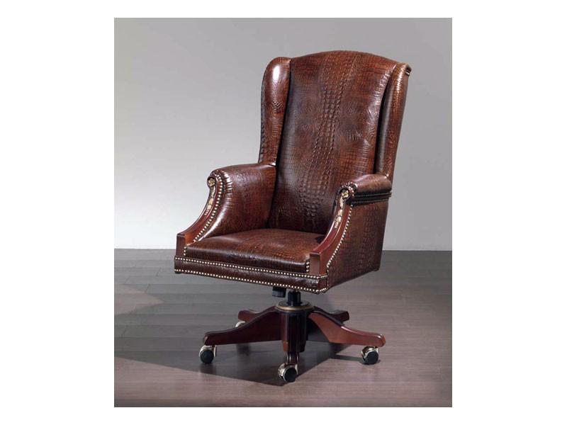 Fiore smooth, Cómodo sillón tapizado en cuero para la oficina