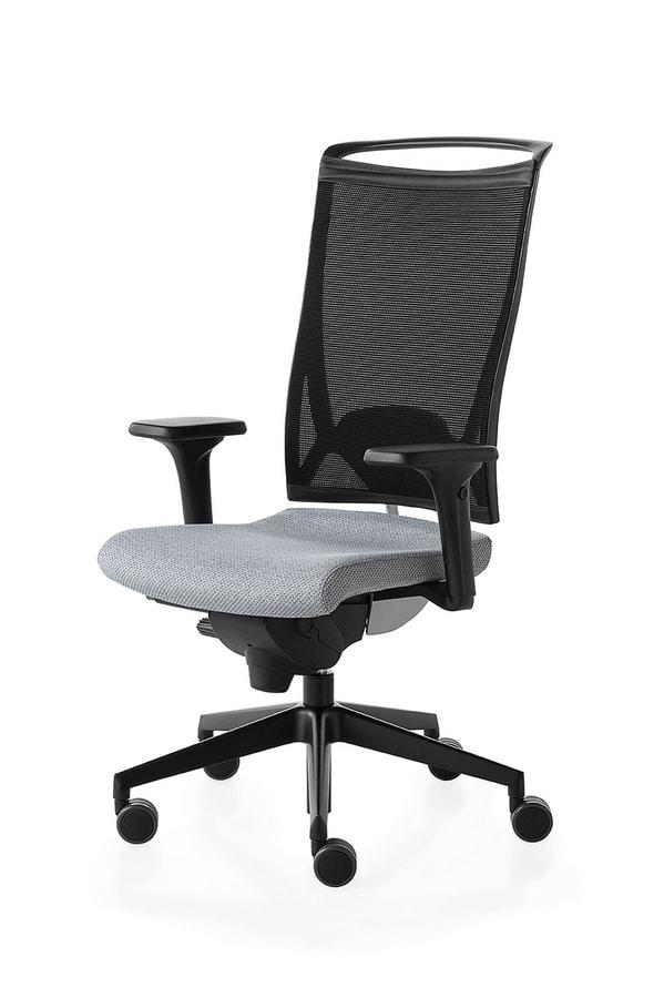 Korium, Silla operativa para la oficina, con ruedas