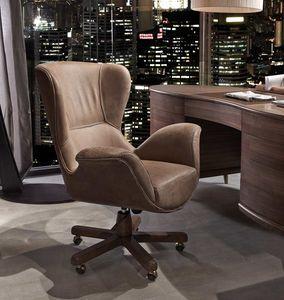 Monteverdi Sillón giratorio, Elegante sillón giratorio para oficina
