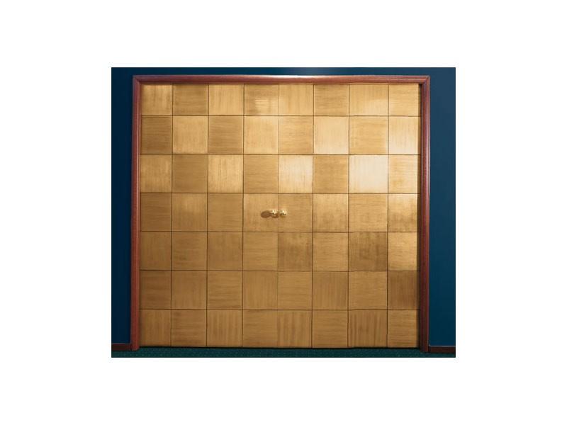 Century, Puerta, modelo del tablero deslizante, pan de oro aplicado a mano