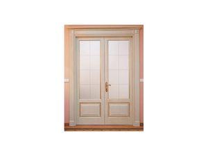 Este 2, De doble ala puerta de la placa del list�n, acabado ceniza rascado, para comedor del hotel