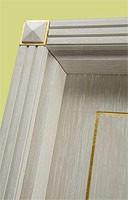 Este, Puertas para el hotel, madera blanca cepillado, la decoración de hojas de oro