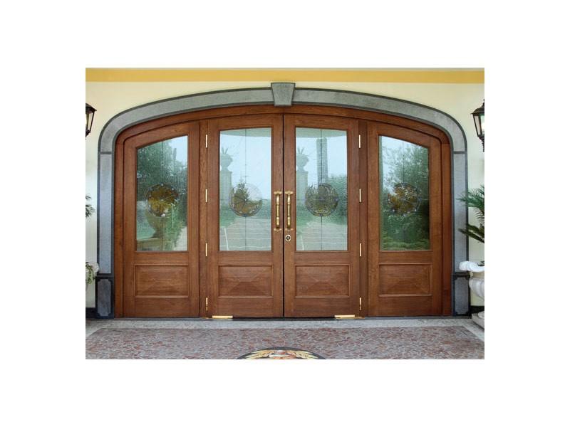 Imperiale Front Door, Puerta de entrada en madera maciza de roble, vidrio irrompible, muelles de suelo