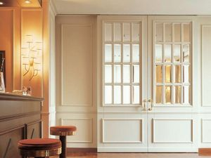 Londra, Puerta en madera lacada, vidrio cortado, emparejado con la boiserie