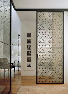 p100 buenos aires, Puertas correderas de cristal para albañilería, estructura de aluminio