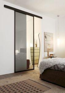 p100 bogota, Puertas correderas de cristal con marco de aluminio