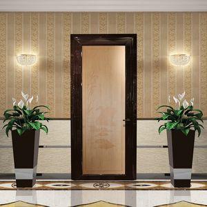 Aries, Puerta de madera s�lida marco complanar, chorro de arena personalizable