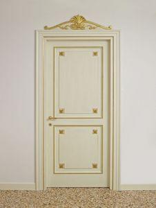 PUERTA ART. PT 0002 - PT 0003, Puertas lacadas con decoraciones de oro, de hoteles de lujo