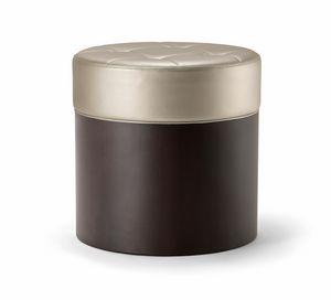 OSLO COFFEE TABLE 086 P H45, Puf de madera, con asiento tapizado