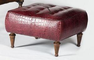 Art. 601/B, Puf tapizado, cubierta con piel de becerro