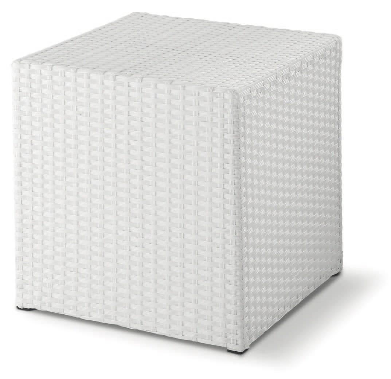 FT Pouff, Sesiones baja entrelazados, en forma de cubo, al aire libre