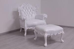 Casanova Vinilo, Lacada en blanco puf, nuevo estilo barroco