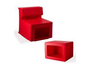 Maxò 2, Sillón modular, fabricado en plástico, para uso en interiores y al aire libre