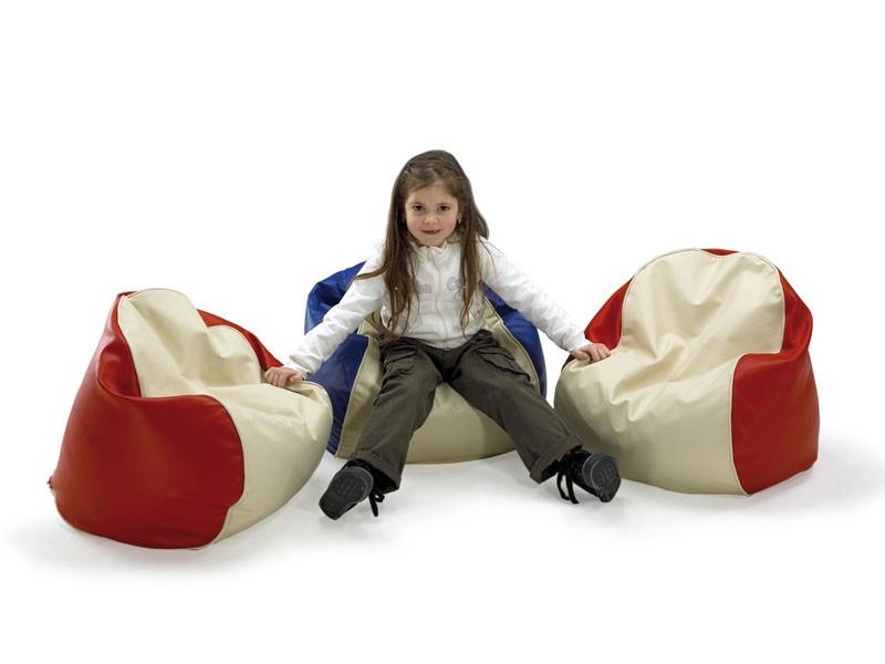 PALLINO, Beanbag para niños, cubiertos de piel artificial, para la habitación de los niños y el jardín de infantes